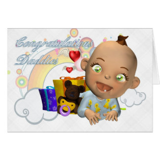 Congratulations new baby gay/lesbian greeting card