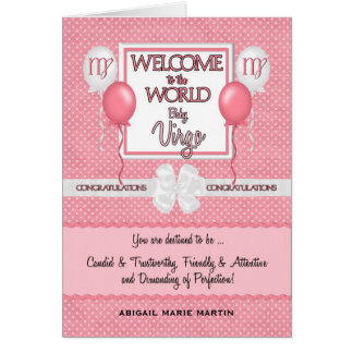 Congratulations New Baby Girl Virgo Card