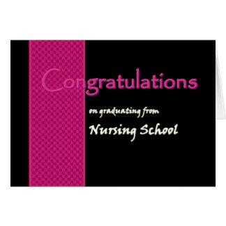 CONGRATULATIONS Nursing School Graduate V03 Card