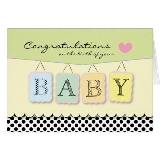 Congratulations on Baby's Birth Greeting Card