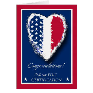 Congratulations on Paramedic Certification Card
