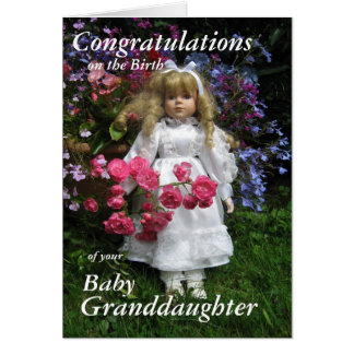Congratulations on the  birth your granddaughter2 card