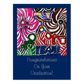 Congratulations on Your Graduation with YEAH Art Postcard
