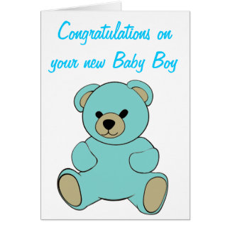 Congratulations on your new Baby Boy Greeting Card
