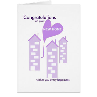 Congratulations on your new home lilac flats greeting card