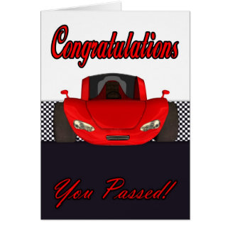 Congratulations passed driving test greeting card