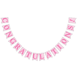 CONGRATULATIONS, PINK BUNTING