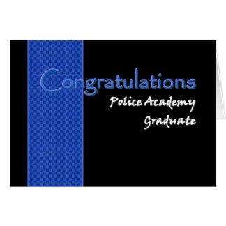 CONGRATULATIONS Police Academy Graduate Card