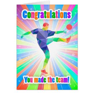 Congratulations You Made The Soccer /Football Team Card