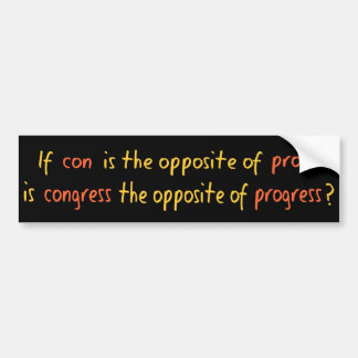 Congress quote bumper sticker