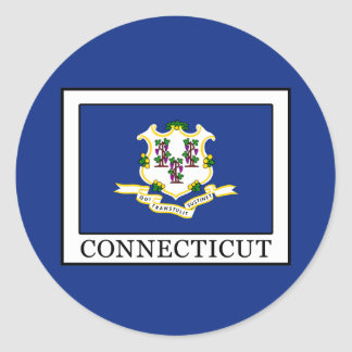 Connecticut Classic Round Sticker