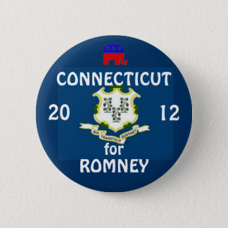 Connecticut for Romney 2012 6 Cm Round Badge