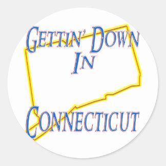 Connecticut - Gettin' Down Classic Round Sticker