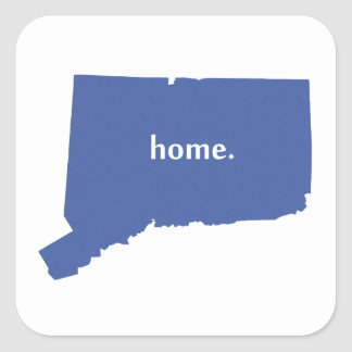 Connecticut Home blue Square Sticker