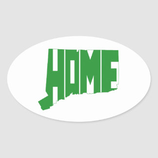 Connecticut Home State Oval Sticker