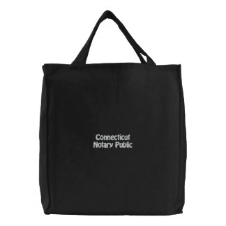 Connecticut Notary Public Embroidered Bag