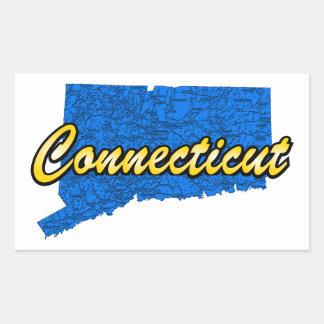 Connecticut Rectangular Sticker