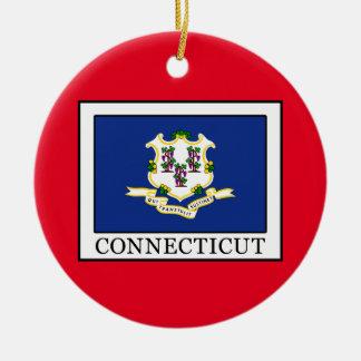 Connecticut Round Ceramic Decoration