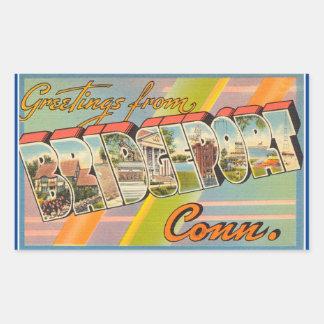Connecticut, Sheet of 4 Bridgeport stickers