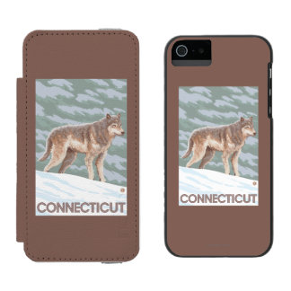 ConnecticutWolf Scene Incipio Watson™ iPhone 5 Wallet Case