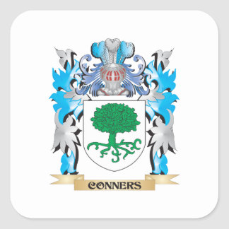 Conners Coat of Arms - Family Crest Square Sticker