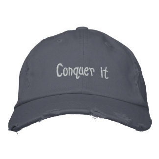 Conquer it Floor 47 hat Embroidered Cap