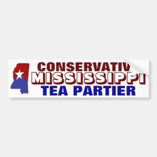 Conservative Mississippi Tea Partier Bumper Sticker