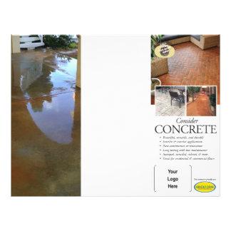Consider Concrete Brochure for Brickform 21.5 Cm X 28 Cm Flyer