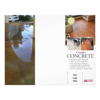 Consider Concrete Brochure for Solomon 21.5 Cm X 28 Cm Flyer