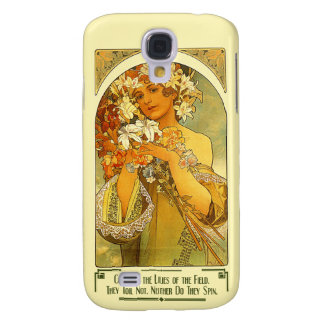 Consider the Lilies of the Field Alphonse Mucha Galaxy S4 Case