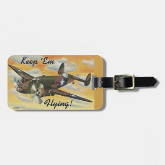 Consolidated B-24 Liberator World War II Vintage Luggage Tag
