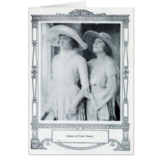Constance and Norma Talmadge 1920 portrait card