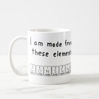 Constant periodic table name mug