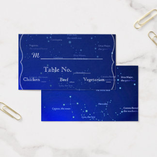 Constellations on Blue Wedding Place Cards