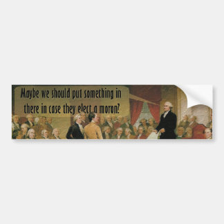 Constitutional Convention Car Bumper Sticker
