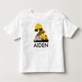Construction Birthday Shirt, Dump Truck Age 2 Toddler T-Shirt