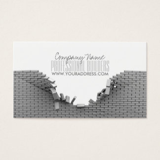 Construction Builders Grey Bricks Business Card