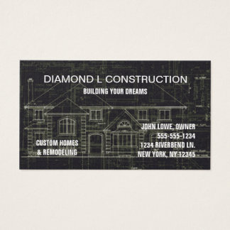 Construction business card Black