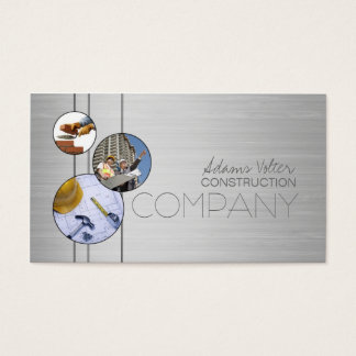 Construction Company Builders Metal Design Card