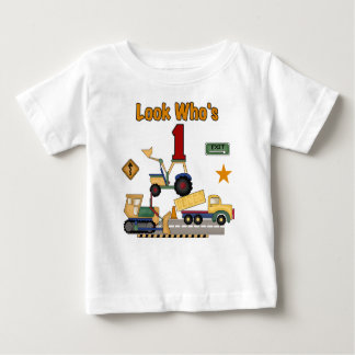 Construction First Birthday Baby T-Shirt