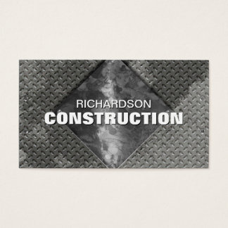 Construction Metal Business Card - Gray Silver