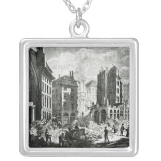Construction of the Boulevard de Sebastopol Silver Plated Necklace