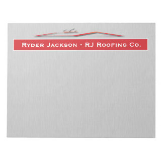 Construction Roofing Notepad