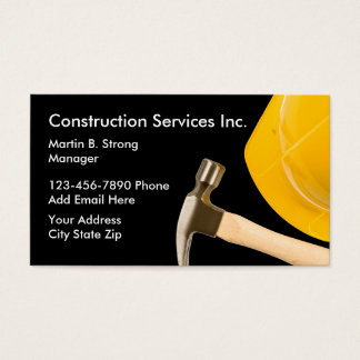 Construction Services With Hard Hat