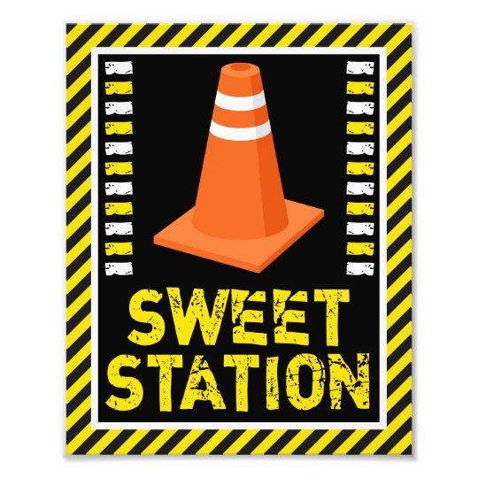 Construction Sweet Station Sign • 8 x 10 Print Art Photo