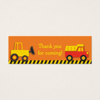199 construction truck business cards and construction truck construction truck goodie bag tags gift tags reheart Gallery