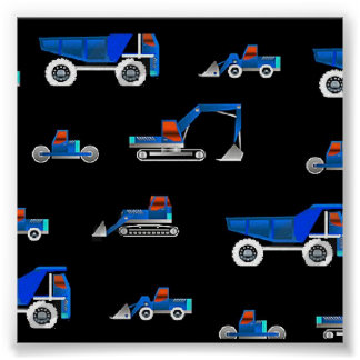 construction vehicle s poster