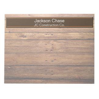 Construction Wood Grain Notepad