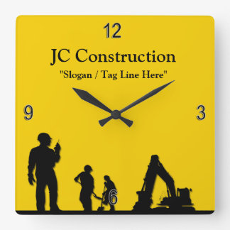 Construction Workers Equipment Wall Clock