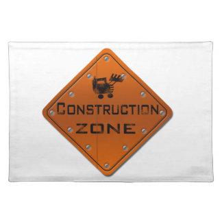 Construction Zone Place Mats